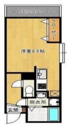 ラフィネス博多リバーステージ - 所在階4階の間取り図 2635