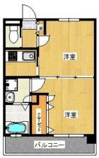 エンクレスト天神南III - 所在階 の間取り図