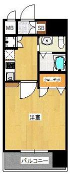 ピュアドームアートフル平尾 - 所在階 の間取り図