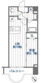 クリスタルリゾートタワー - 所在階 の間取り図