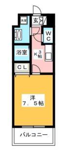 エンクレスト天神東III - 所在階 の間取り図