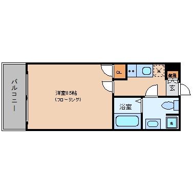 ASレジデンス呉服町302号室-間取り