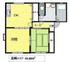 喜峰ハイツ - 所在階 の間取り図