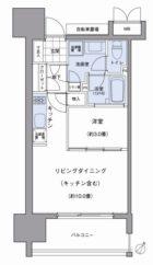 パークアクシス博多美野島 - 所在階 の間取り図