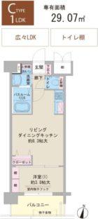 F・PARC博多駅南 - 所在階10階の間取り図 2728