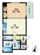 S.Y祇園ビル - 所在階 の間取り図