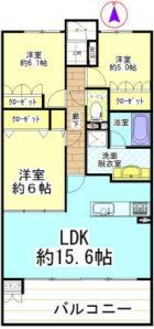 サーパス桜坂 - 所在階 の間取り図