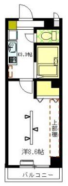紫電壱号館 - 所在階 の間取り図