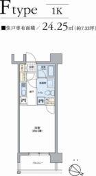 パークアクシス六本松 - 所在階 の間取り図