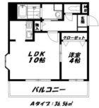 ビーノ六本松 - 所在階 の間取り図