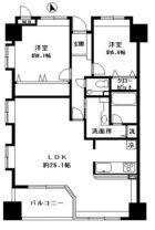 コアマンション桜坂プレジオ弐番館 - 所在階 の間取り図