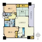 サークコート大濠公園駅 - 所在階 の間取り図