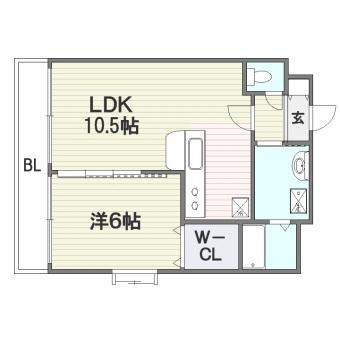 B・Jハウス博多303号室-間取り