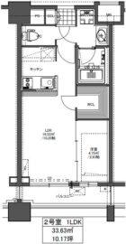 GRAND HILL IWASE BLD - 所在階 の間取り図