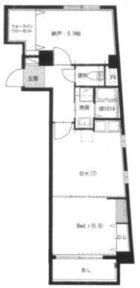 アリッサム六本松 - 所在階 の間取り図