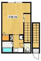 ヴィラ桂 - 所在階 の間取り図