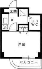 ジャルダン呉服町 - 所在階3階の間取り図 2845