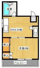 TOハイツII - 所在階 の間取り図