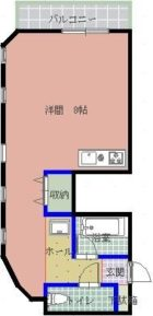 フローレン津上 - 所在階 の間取り図