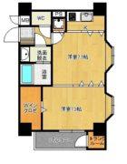 ステイツ博多駅2 - 所在階1階の間取り図 2859