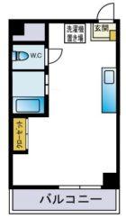 サンマンション天神 - 所在階 の間取り図