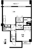 カトレア天神ビル - 所在階 の間取り図
