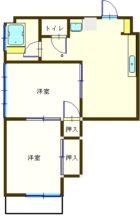 深堀ビル - 所在階 の間取り図