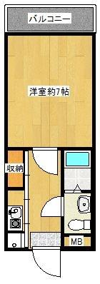 グランディア竹下 - 所在階 の間取り図