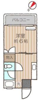 アップルハイム - 所在階 の間取り図
