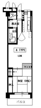 アイビーコーポ - 所在階5階の間取り図 2973