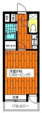 エステートモア天神デュオ - 所在階 の間取り図