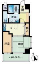 パークサイドI・B - 所在階 の間取り図