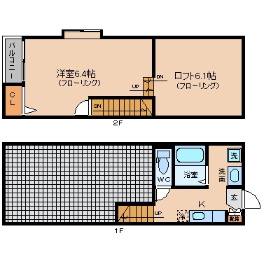 CAMELOT HAKATA canalside203号室-間取り