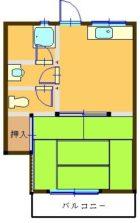 三公ビル - 所在階 の間取り図