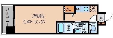ウインステージ平尾206号室-間取り