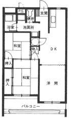 高砂マンション - 所在階 の間取り図