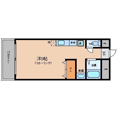 スペーステック博多I203号室-間取り