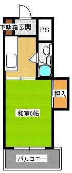 大蔵マンション南博多 - 所在階 の間取り図