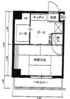 エクシードマンション南天神 - 所在階 の間取り図