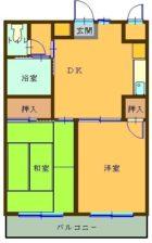 エテルナ小笹 - 所在階 の間取り図