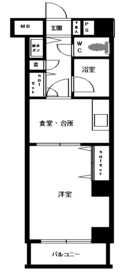 JGM渡辺通南 - 所在階 の間取り図