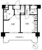 ステイツ天神 - 所在階 の間取り図