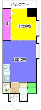 高橋第3警固ビル - 所在階 の間取り図