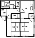 内外輸送アパート - 所在階 の間取り図
