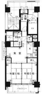 皐月マンション南薬院 - 所在階 の間取り図