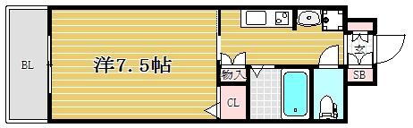 エクセラ六本松302号室-間取り