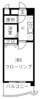 ピエモンテ大濠 - 所在階 の間取り図