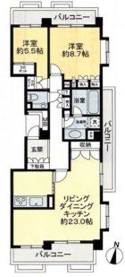 パークヒルズ櫻坂ステージI - 所在階 の間取り図