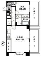 ライオンズマンション桜坂第3 - 所在階 の間取り図