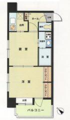 エステートモア白金クロス - 所在階 の間取り図